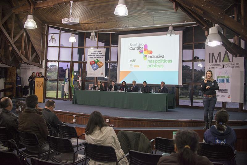 Seminário Curitiba + Inclusiva, com Discussão de Políticas Públicas.<br />Curitiba, 20/05/2016 - <br />Foto: Gabriel Rosa/SMCS