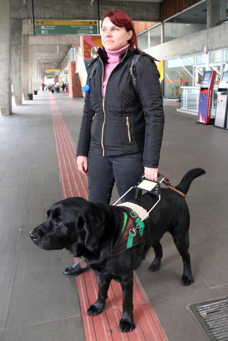 Motoristas serão orientados para transporte de cegos com cães-guia.Curitiba, 12/09/2018. Foto : Lucilia Guimarães/SMCS