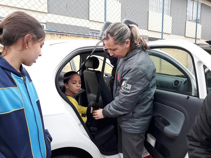 Motorista sem cinto é a principal situação flagrada por guardas no trânsito Foto: Divulgação/EPTRAN