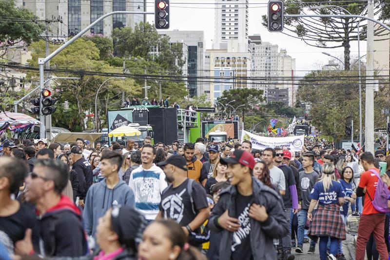 s ruas da região central da cidade terão alteração de trânsito no sábado (18/5) em razão do evento Marcha para Jesus, um dos maiores eventos públicos realizados na capital. Foto: Pedro Ribas/SMCS (arquivo)