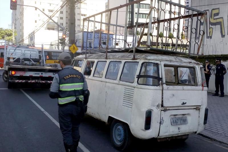 No último mês, veículos em mau estado de conservação foram retirados de circulação por agentes de trânsito. Foto: Divulgação