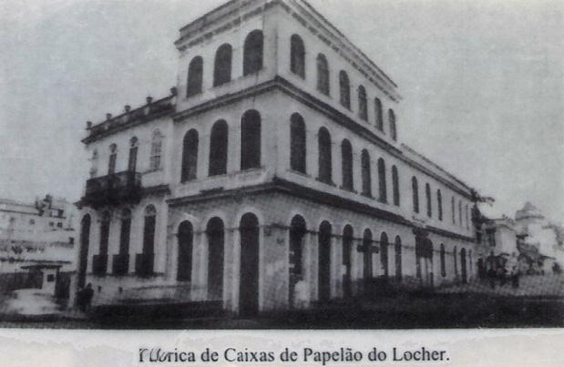 A edificação construída por Manoel Antônio Guimarães Netto na esquina das ruas Mateus Leme e Treze de Maio, atual sede do Conservatório de Música Popular Brasileira de Curitiba, quando abrigada a fábrica de papelão.