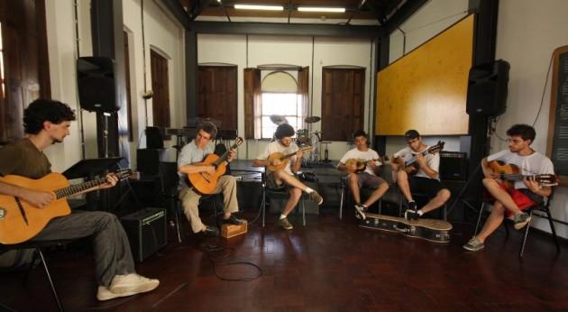 Roda de Choro em uma das salas do Conservatório de Música Popular Brasileira, em 2015.