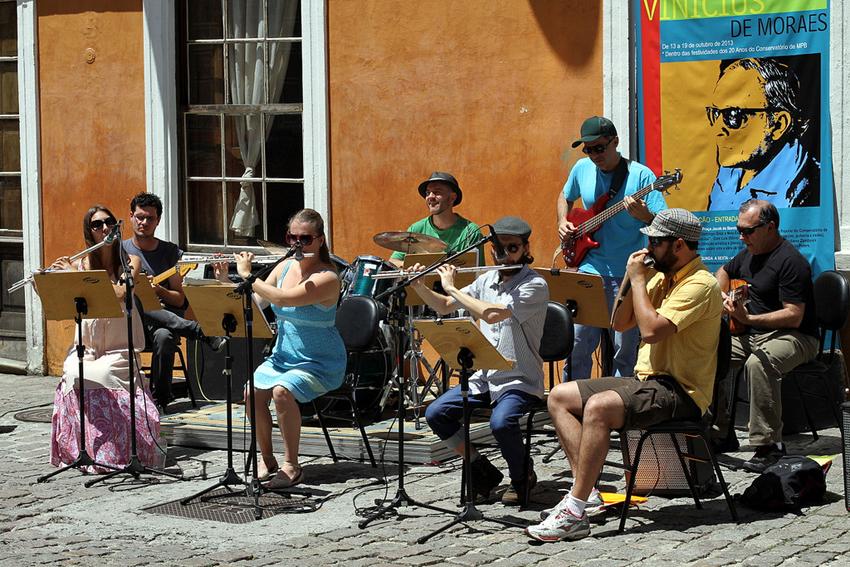 Apresentação de alunos do Conservatório de Música Popular Brasileira.
