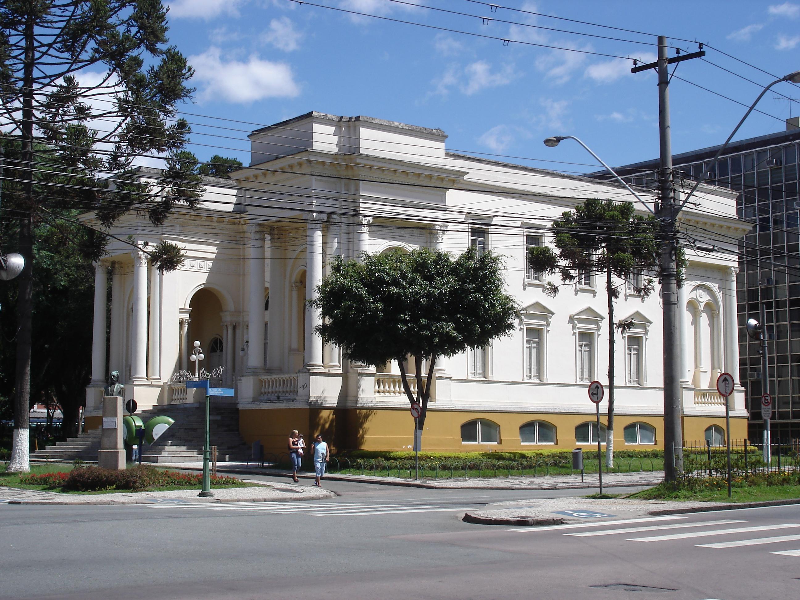 Palácio Rio Branco, sede da Câmara Municipal de Curitiba, em 2007.