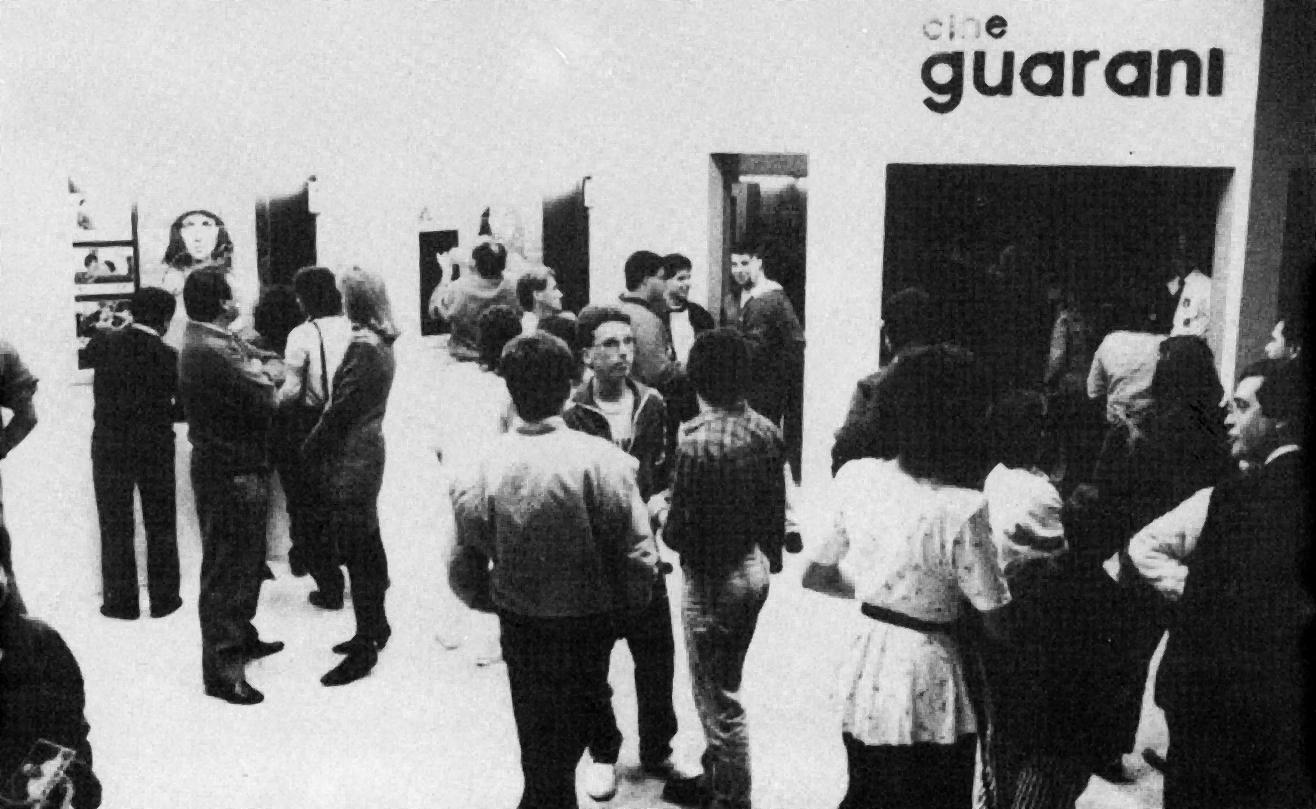 Inauguração do Cine Guarani, em 1988.