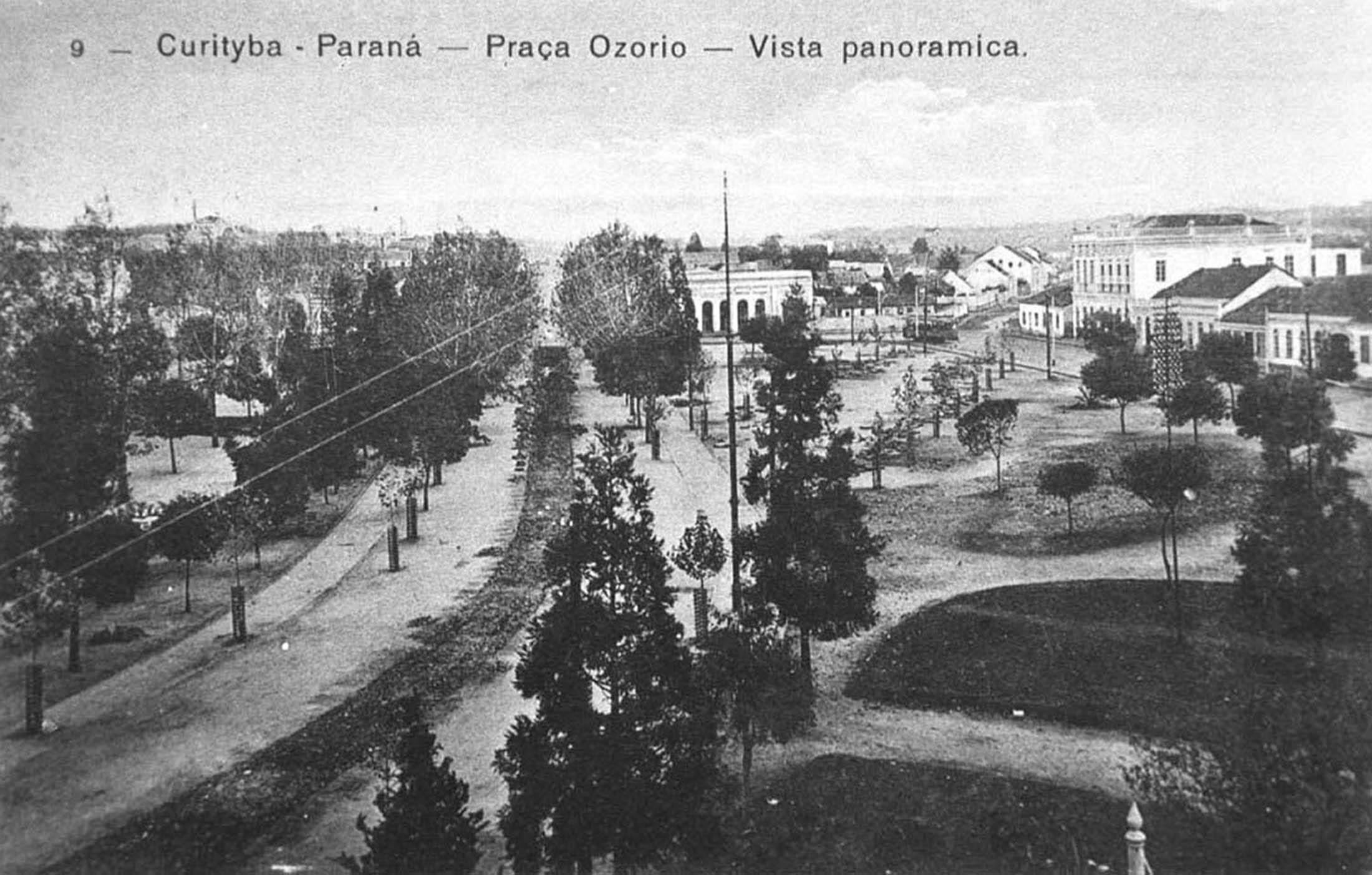Praça Osório em 1910.