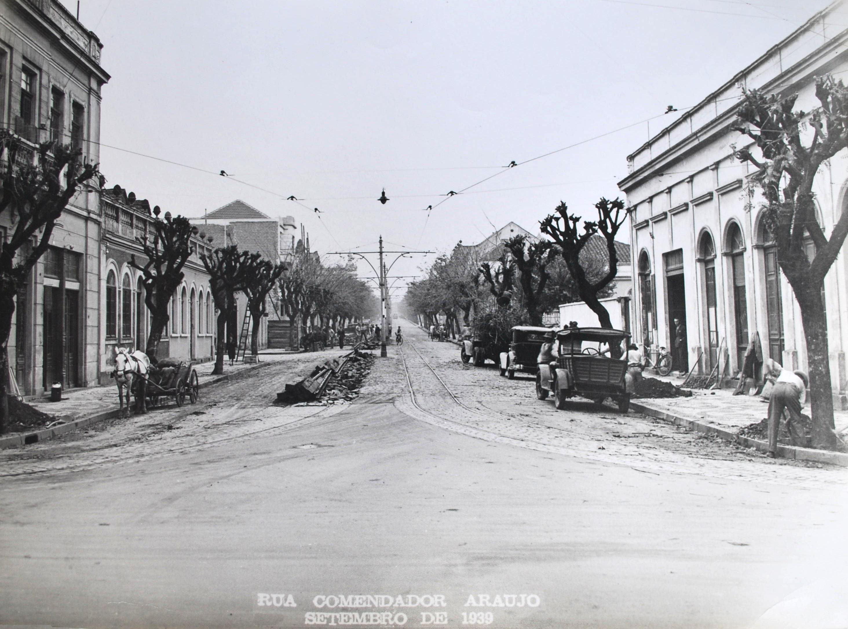 Rua Comendador Araújo, em 1939.