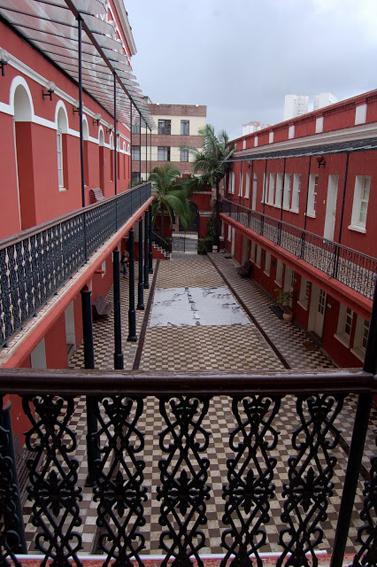 Complexo cultural Solar do Barão, em 2015. Vista de um dos pátios internos.
