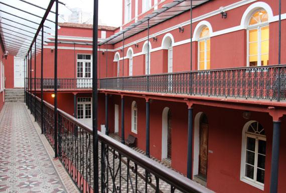 Complexo cultural Solar do Barão, em 2010. Vista de um dos pátios internos.