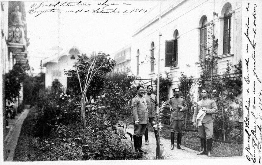 Quartel Militar, antiga Residência do Barão do Serro Azul, início do século XX.