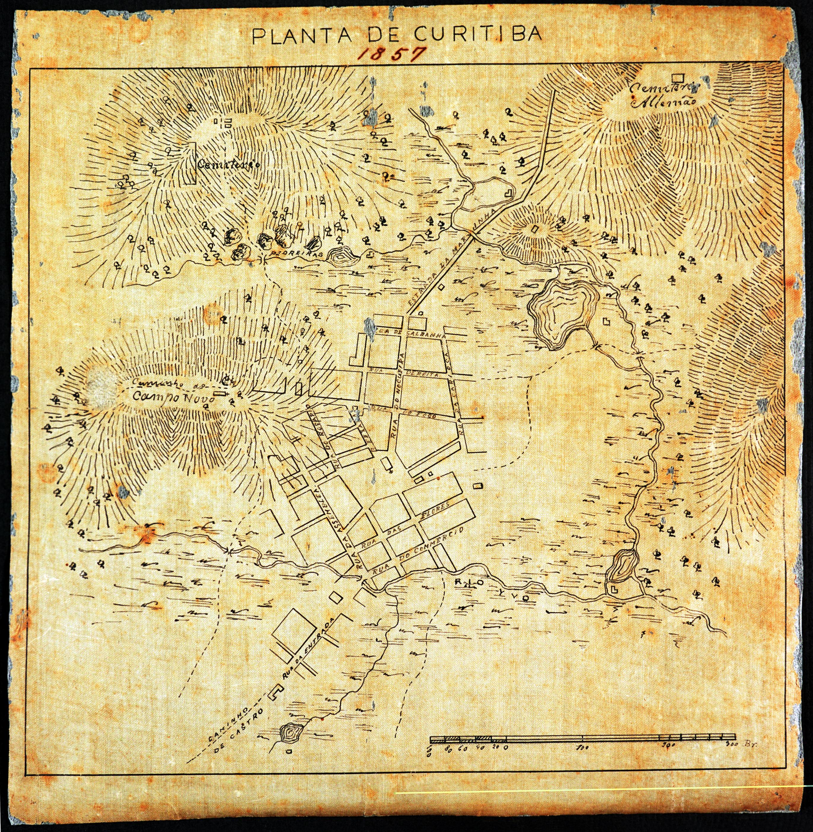 Curitiba em 1857